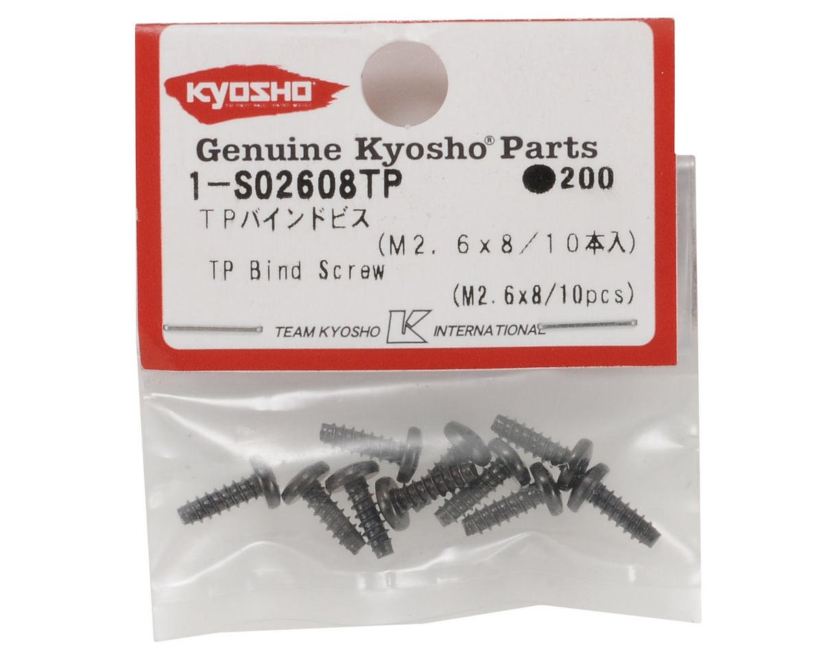 Kyosho 2.6x8mm Self Tapping Binder Head Screw (10)