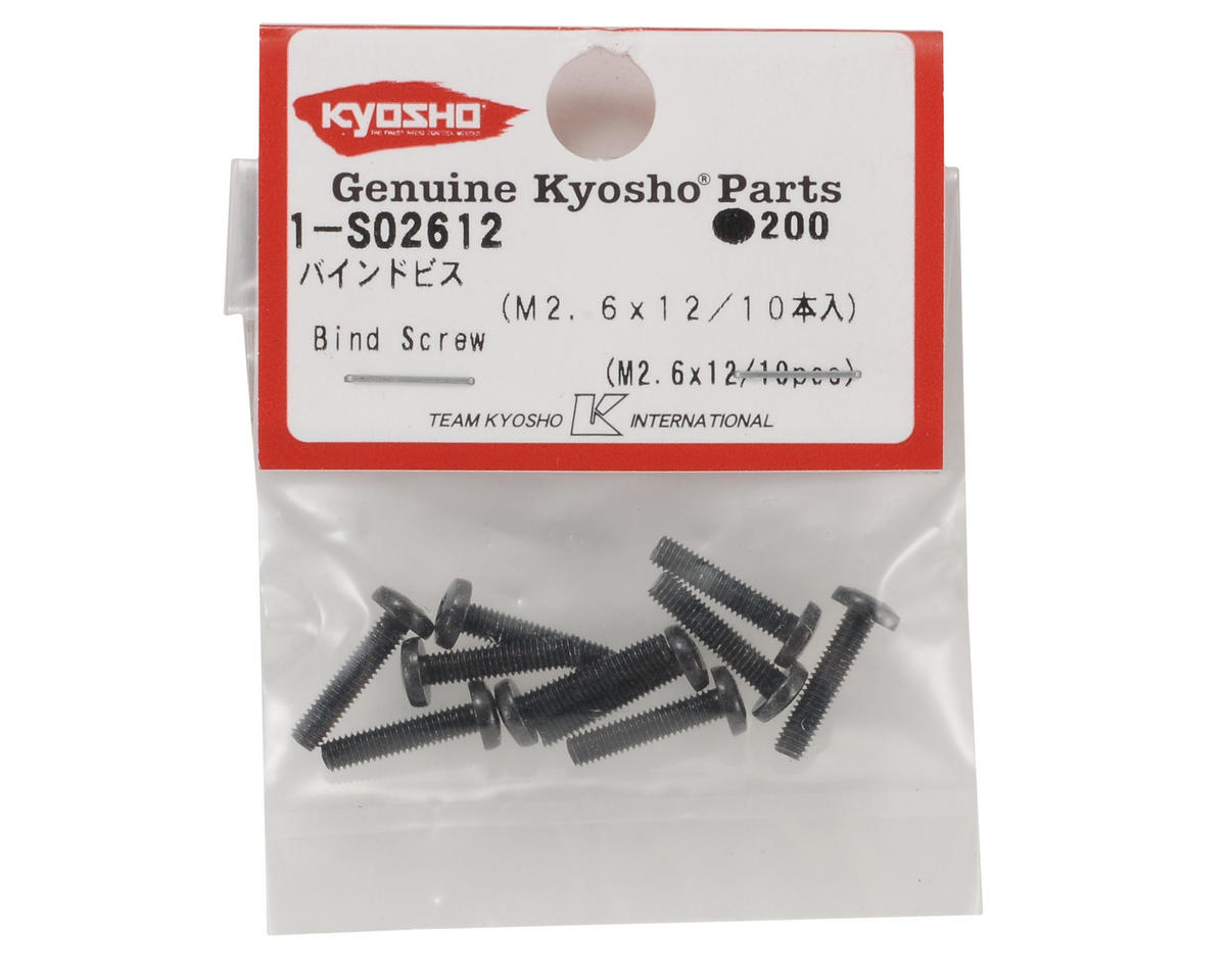 Kyosho 2.6x12mm Binder Head Screw (10)