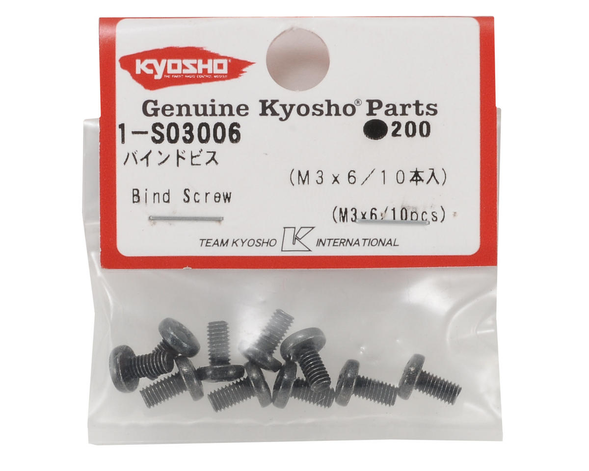 Kyosho 3x6mm Binder Head Screws (10)