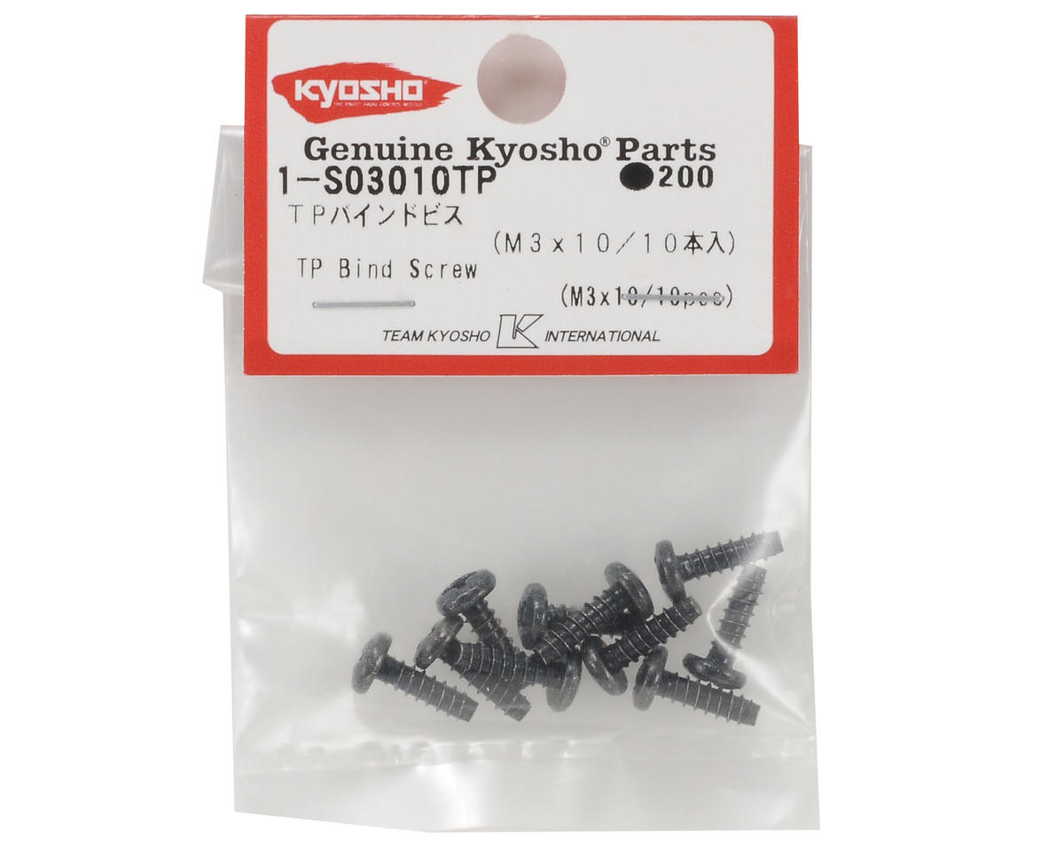Kyosho 3x10mm Self Tapping Binder Head Screw (10)