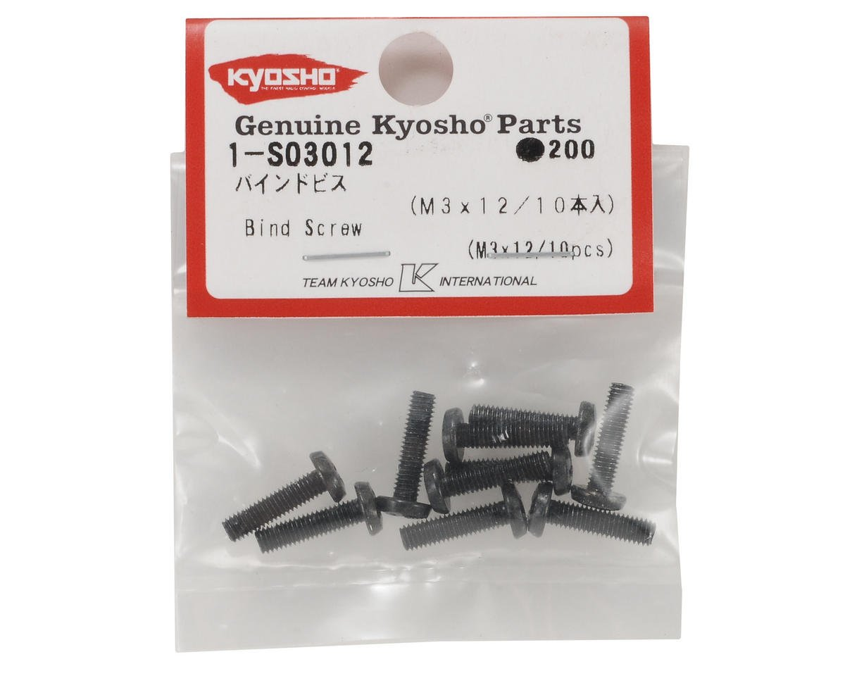 Kyosho 3x12mm Binder Head Screw (10)