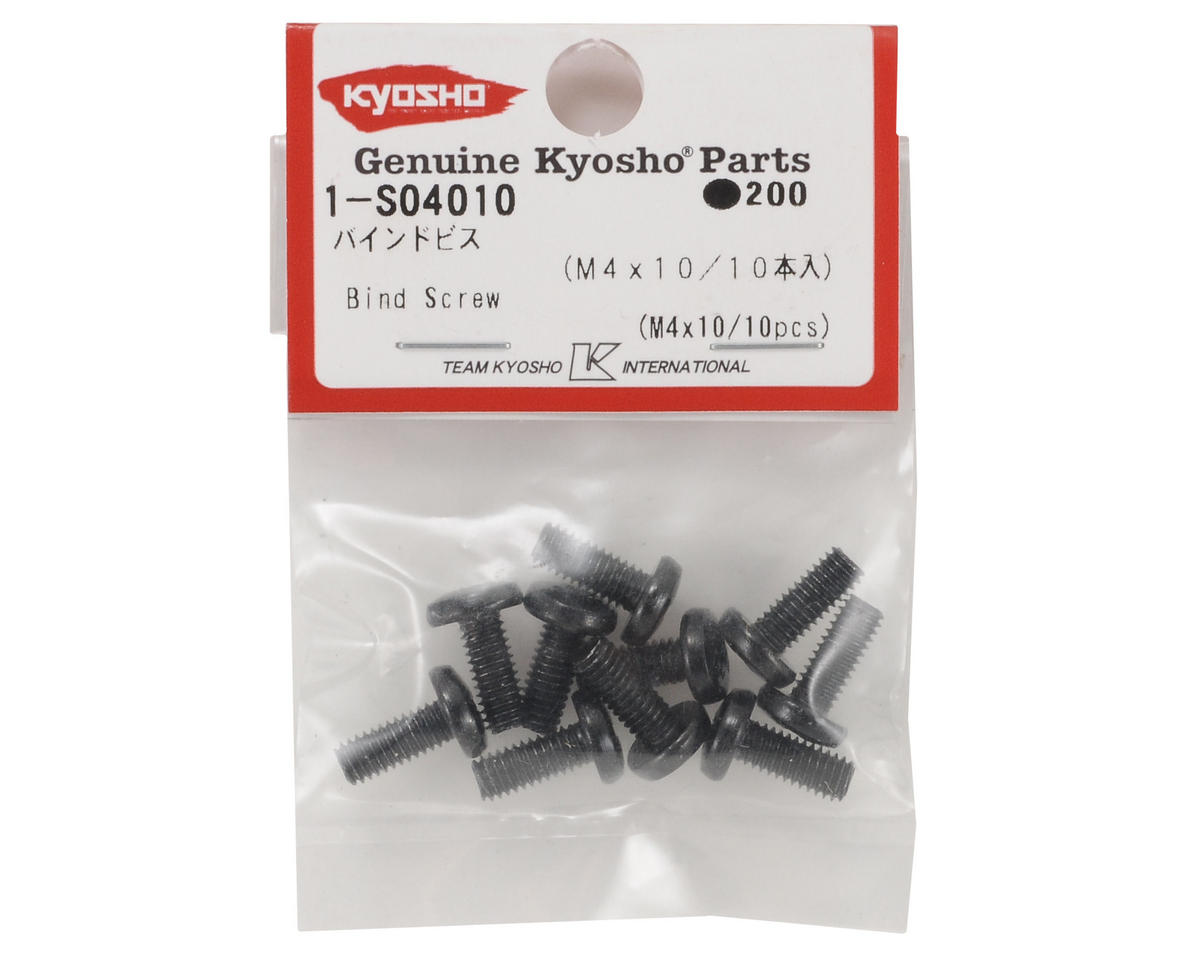 4x10mm Binder Head Screw (10) by Kyosho