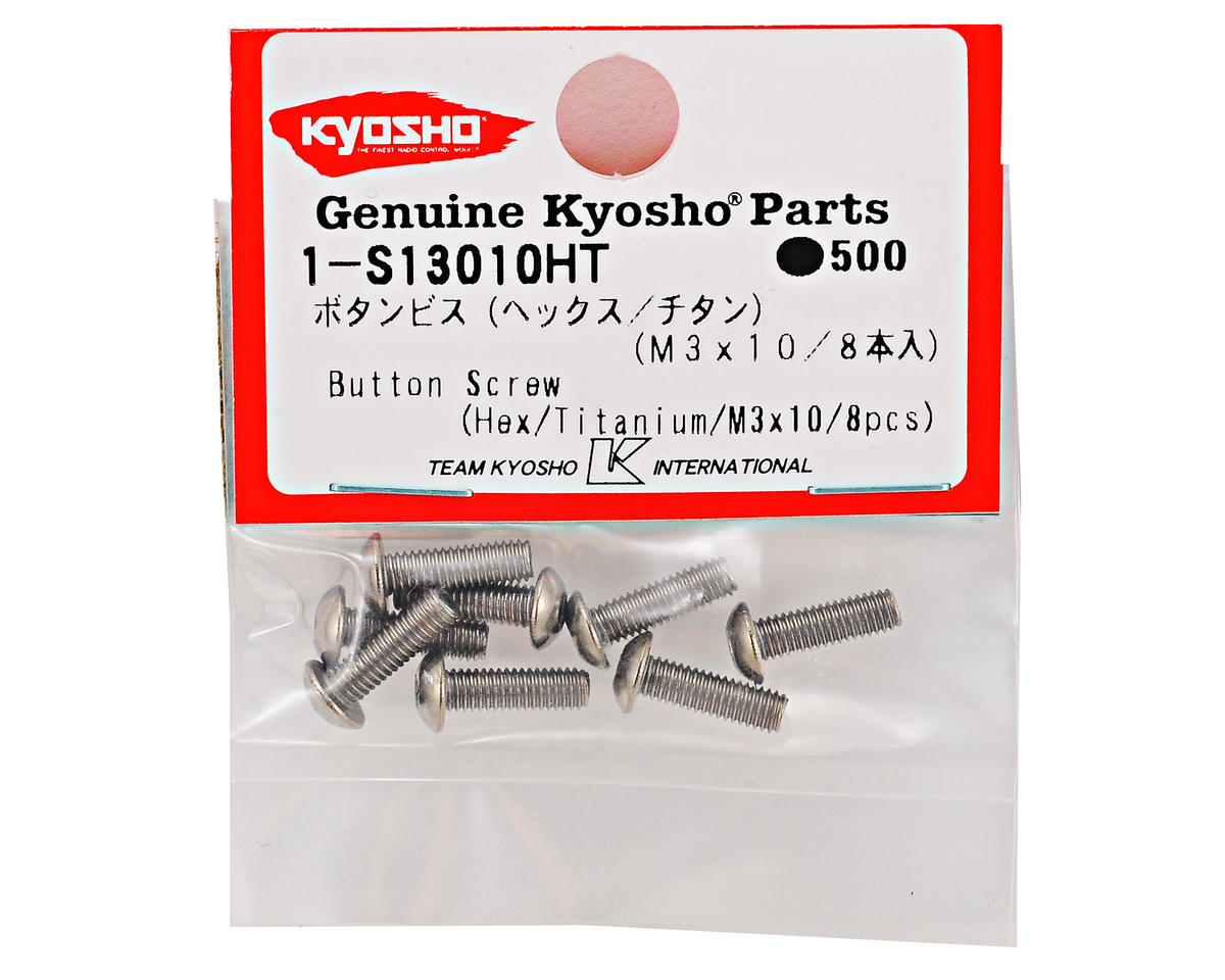 3x10mm Titanium Button Head Hex Screw (8) by Kyosho