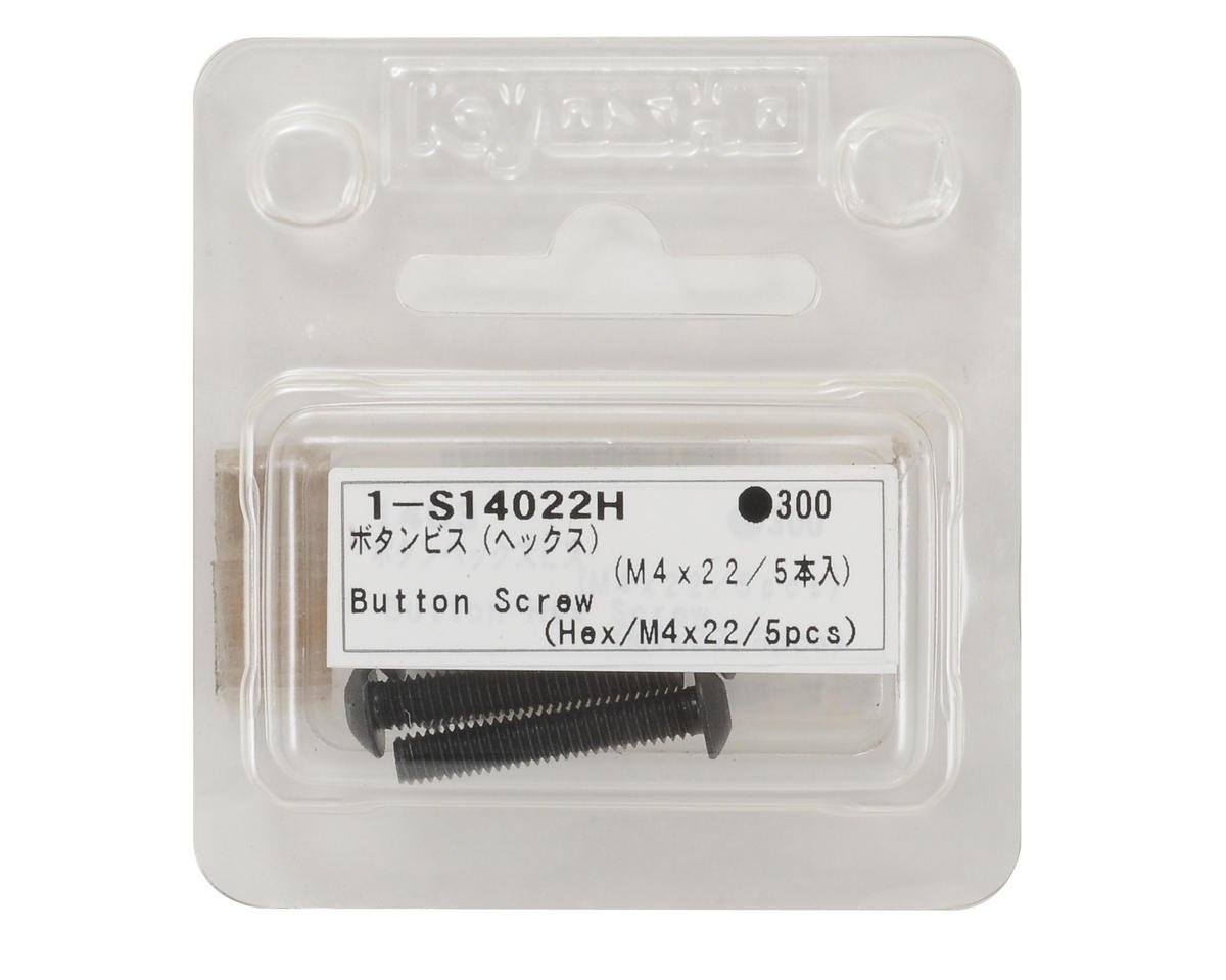 4x22mm Button Head Hex Screw (5) by Kyosho