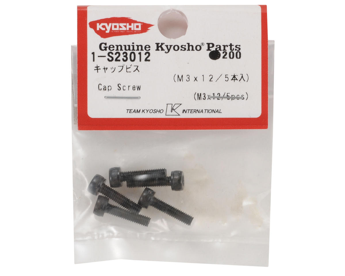 Kyosho 3x12mm Cap Head Screw (5)