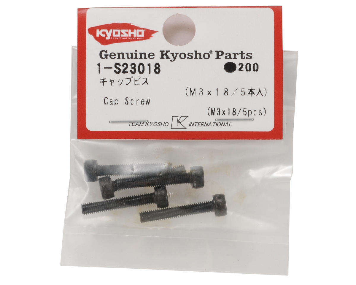 Kyosho 3x18mm Cap Head Screw (5)