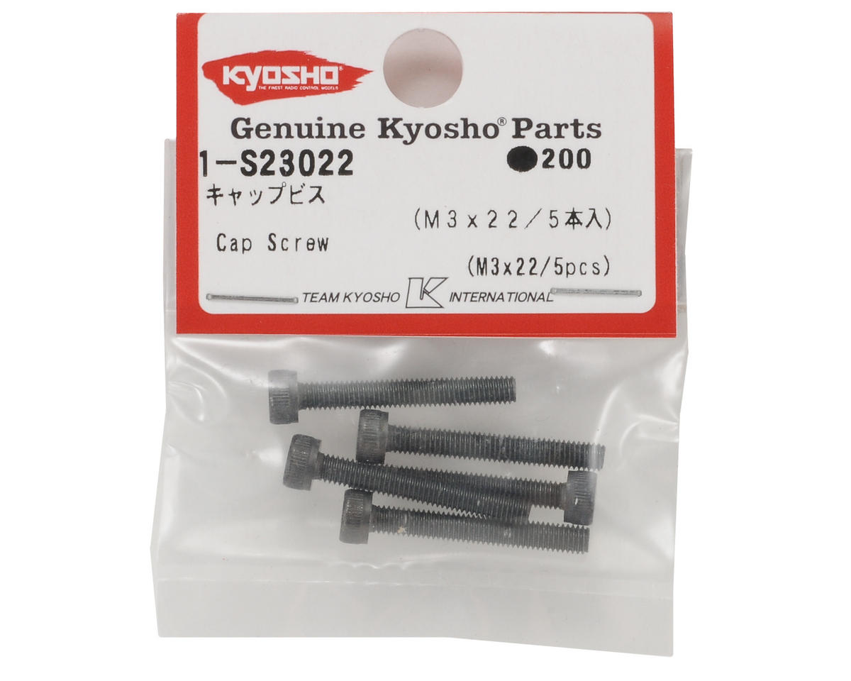 3x22mm Cap Head Screw (5) by Kyosho