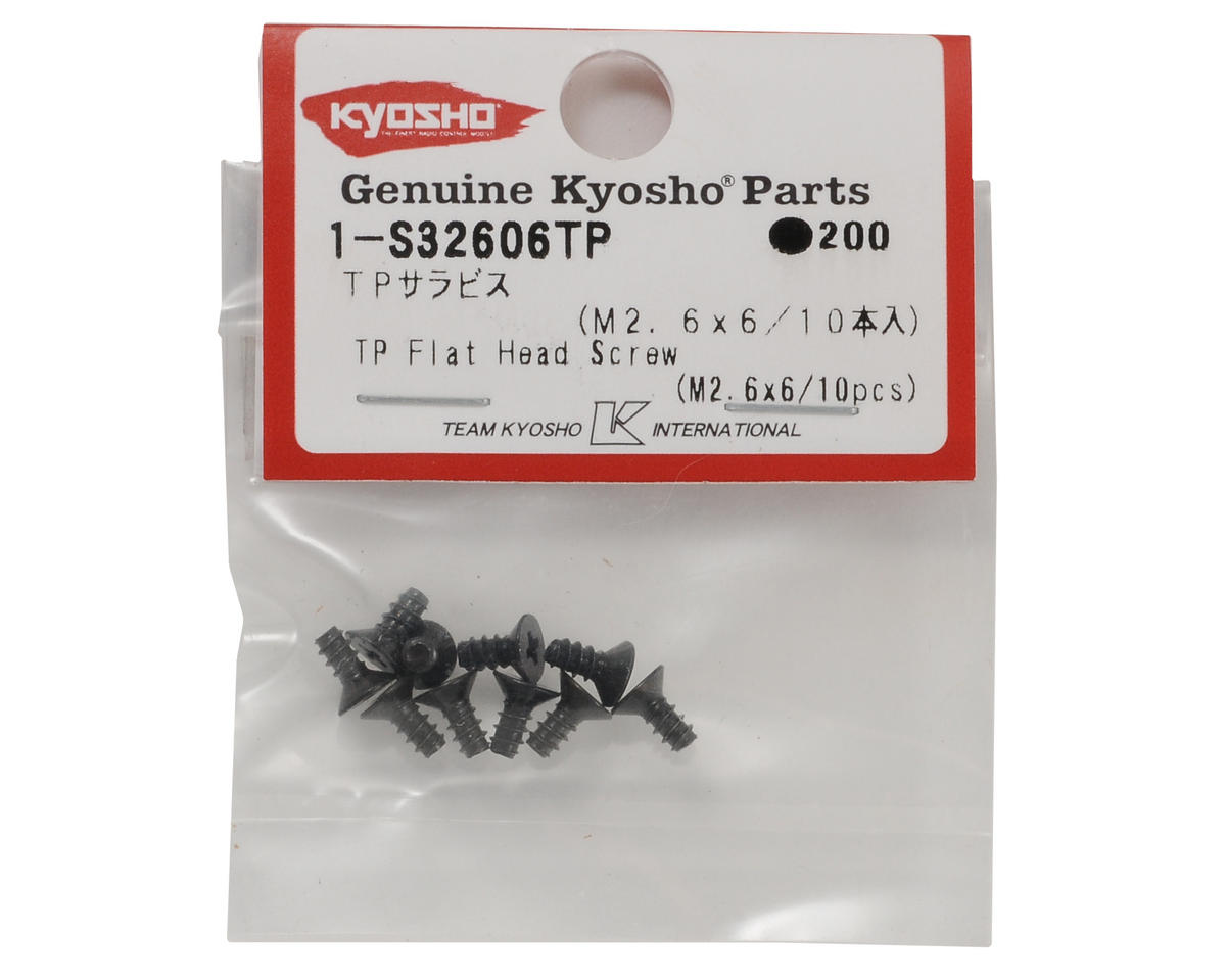 Kyosho 2.6x6mm Self Tapping Flat Head Screw (10)