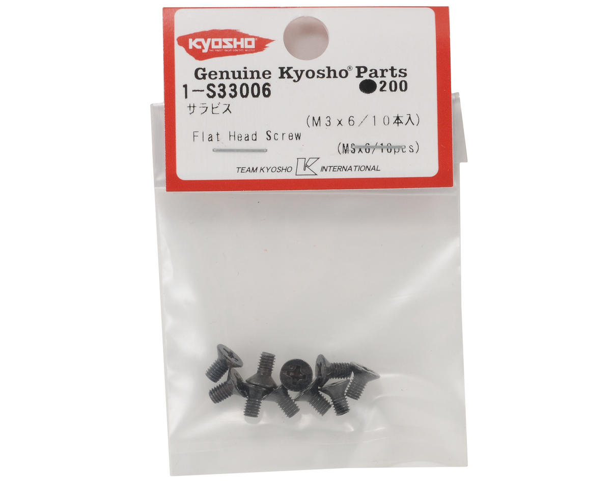 Kyosho 3x6mm Flat Head Screw (10)