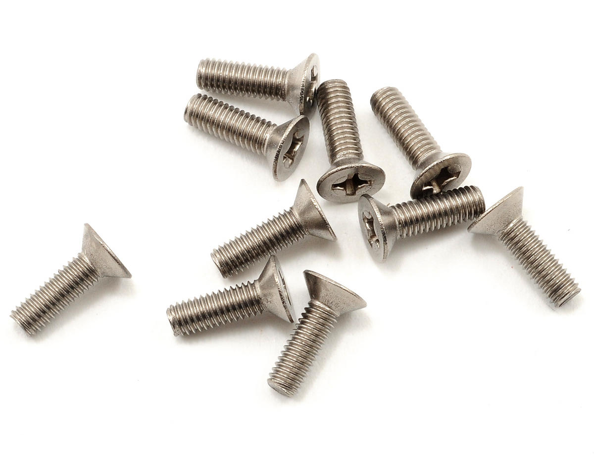 Kyosho 3x10mm Titanium Flat Head Phillips Screw (10)
