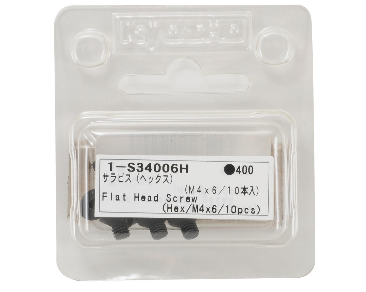 4x6mm Flat Head Hex Screw (10) by Kyosho