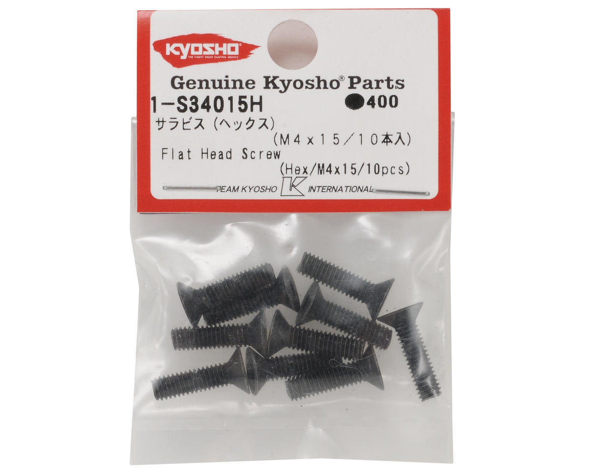 4x15mm Flat Head Hex Screw (10) by Kyosho