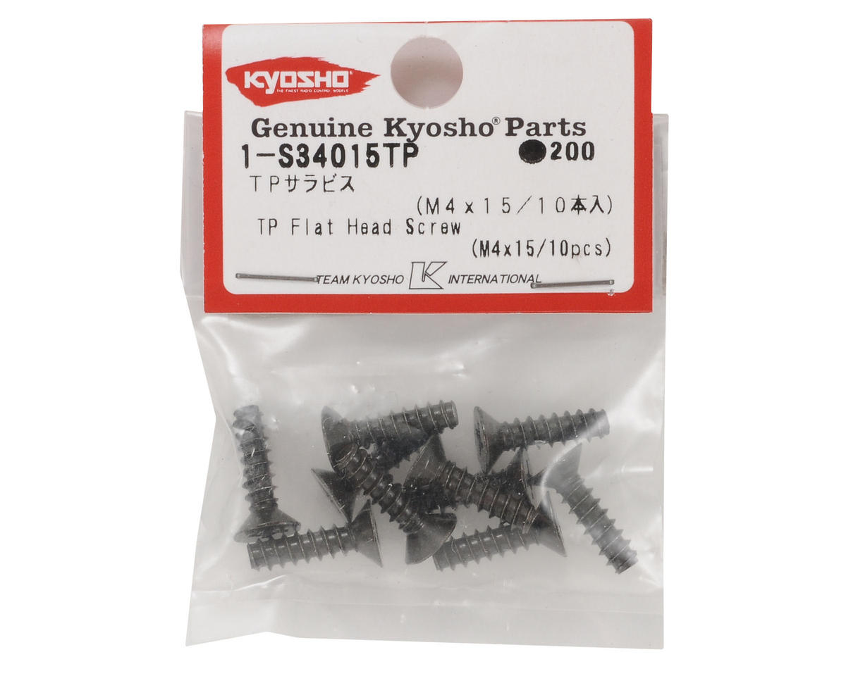 Kyosho 4x15mm Self Tapping Flat Head Screw (10)