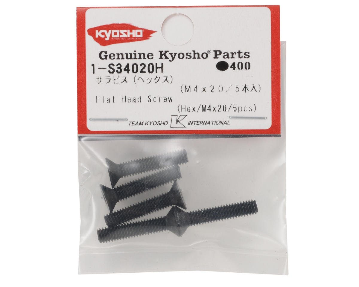 Kyosho 4x20mm Flat Head Hex Screw (5)
