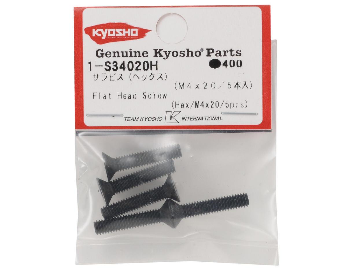 Kyosho 4x20mm Flat Head Hex Screw (5)