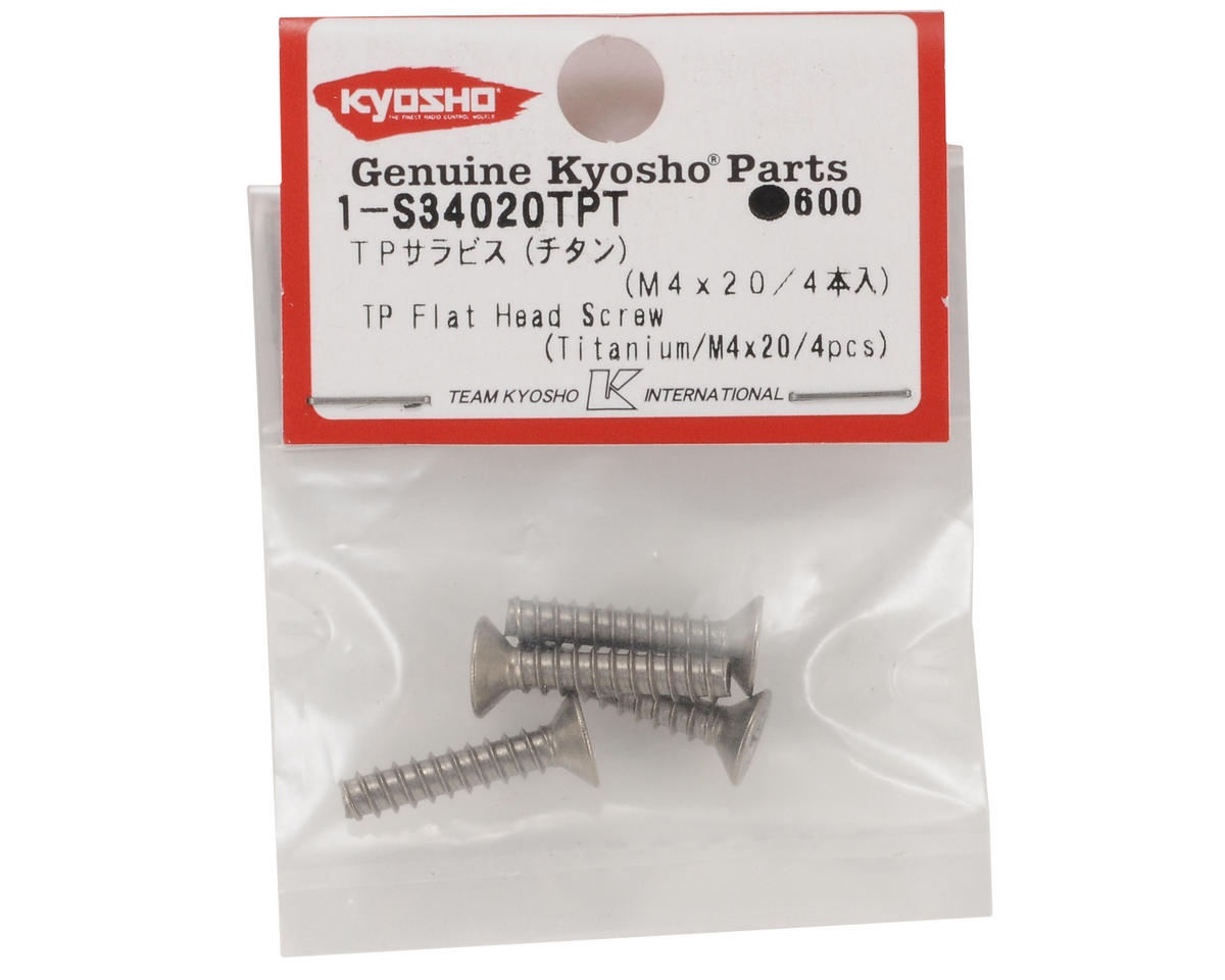 Kyosho 4x20mm Titanium Self Tapping Flat Head Screw (4)