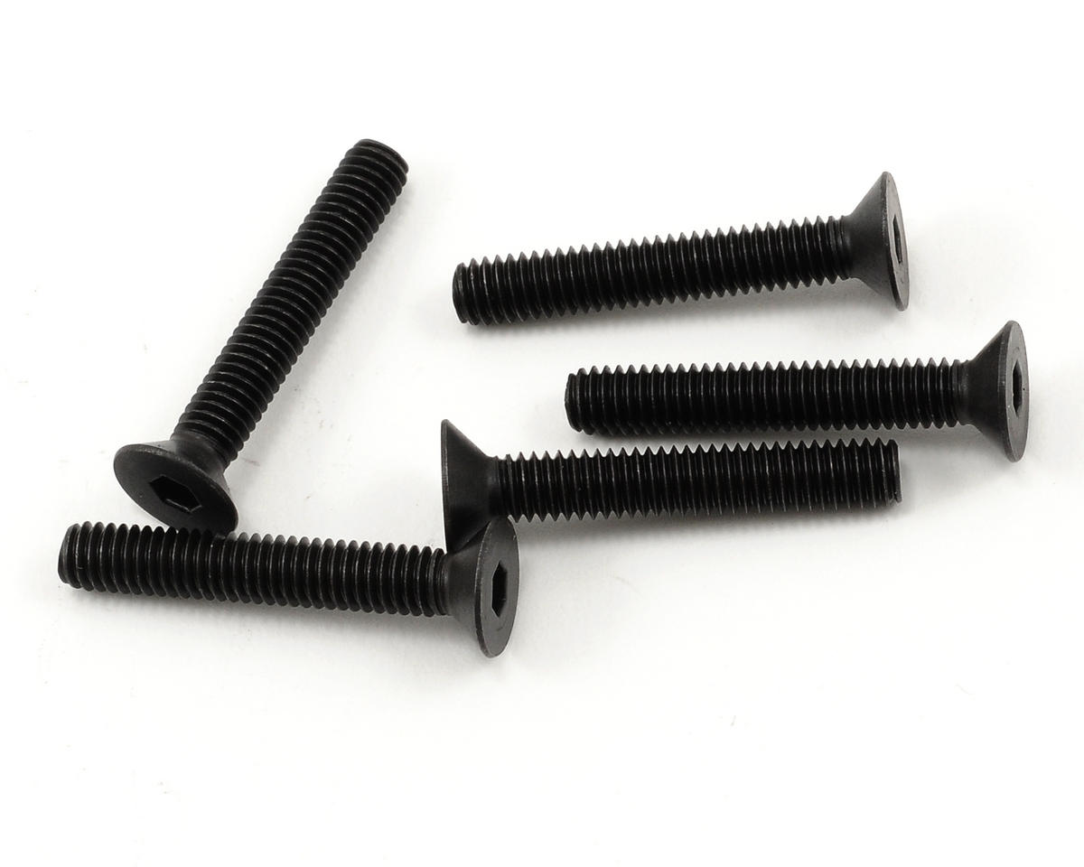 Kyosho 4x25mm Flat Head Hex Screw (5)