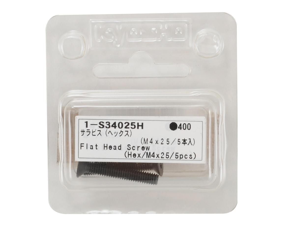 Kyosho 4x25mm Flat Head Hex Screw (5)