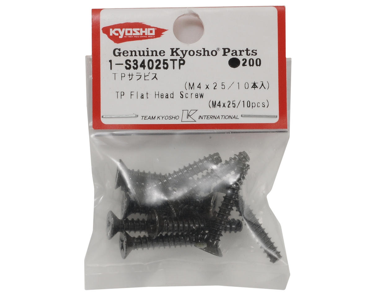 Kyosho 4x25mm Self Tapping Flat Head Phillips Screw (10)