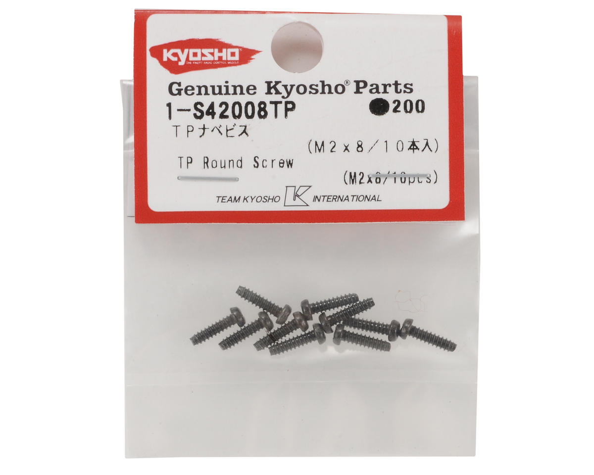 Kyosho 2x8mm Self Tapping Round Head Screw (10)