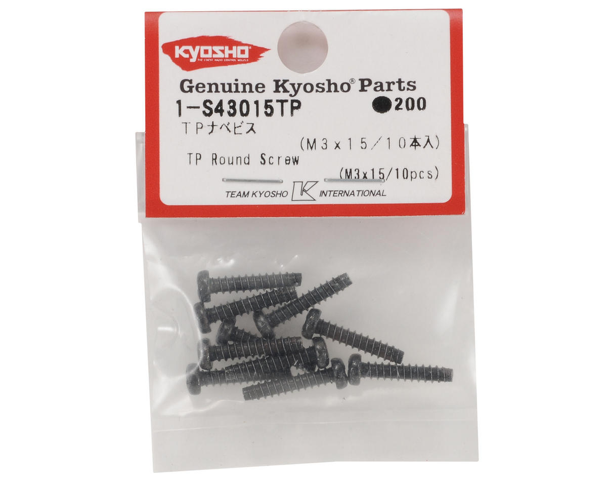 3x15mm Self Tapping Round Head Screw (10) by Kyosho