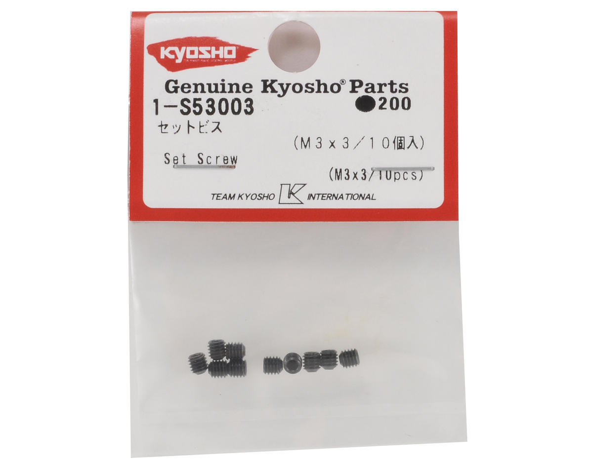 Kyosho 3x3mm Set Screw (10)
