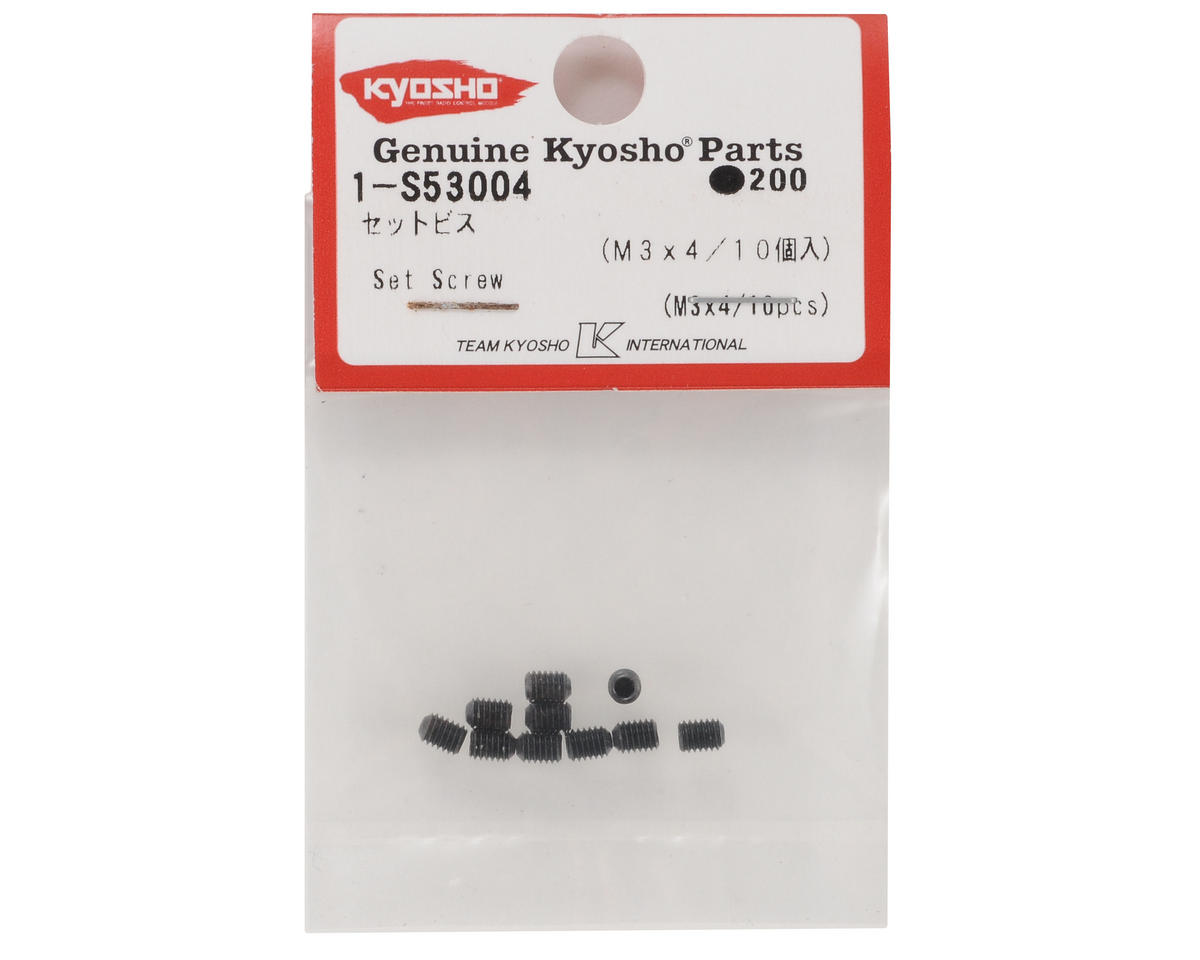 Kyosho 3x4mm Set Screw (10)