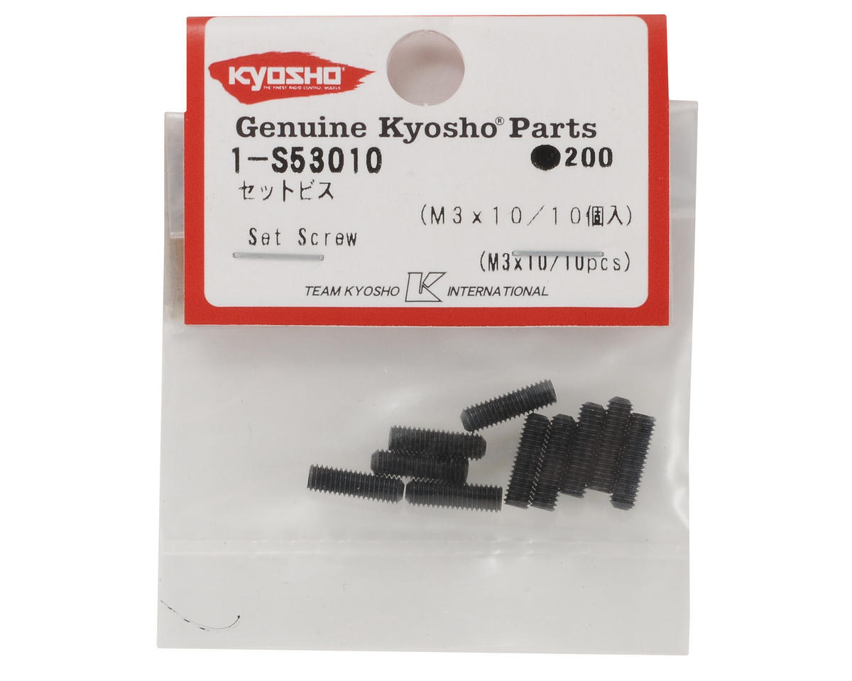 Kyosho 3x10mm Set Screw (10)