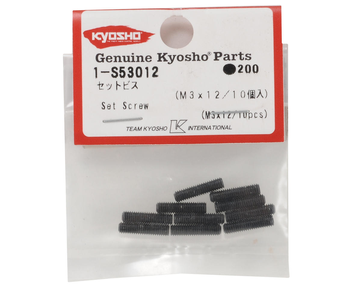 Kyosho 3x12mm Set Screw (10)