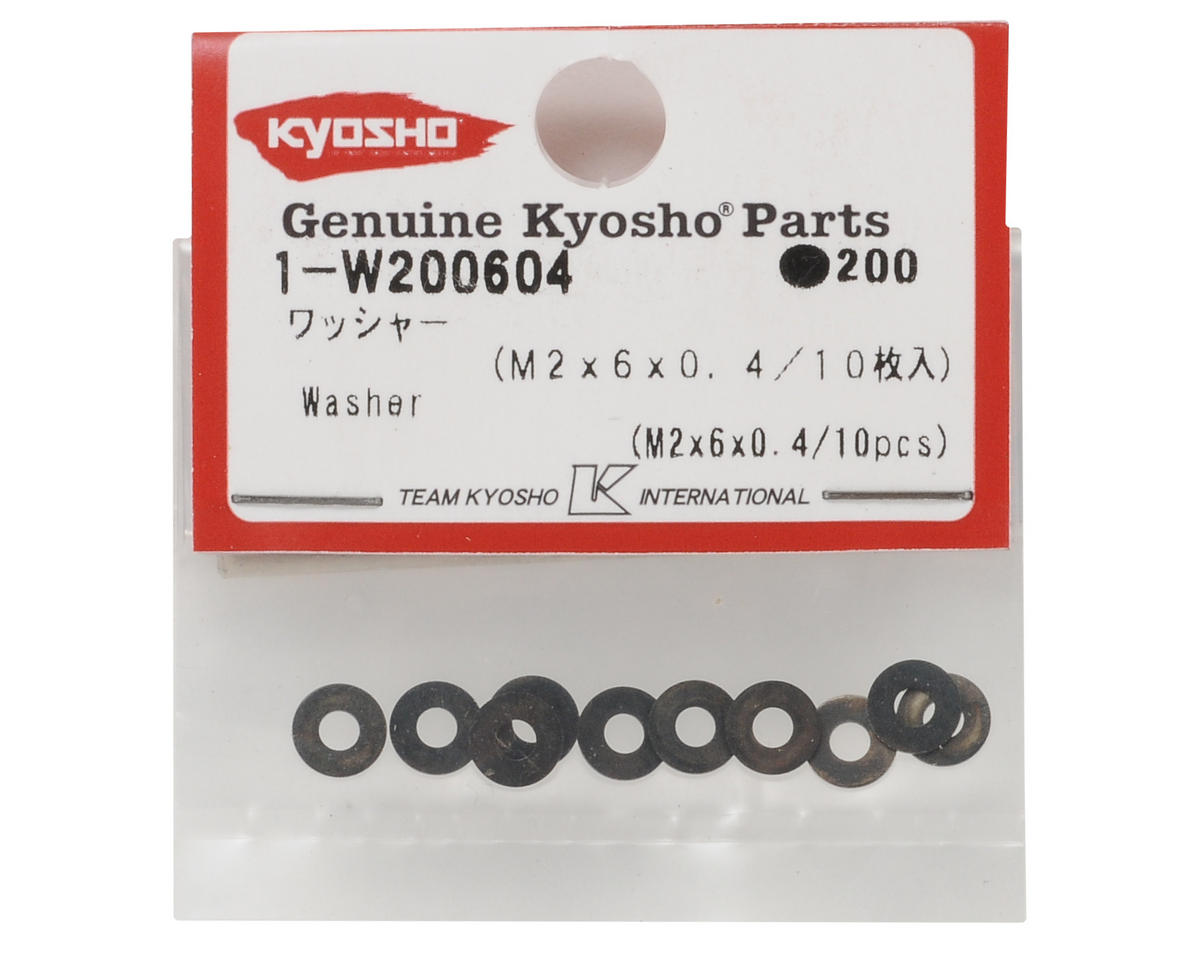 Kyosho 2x6x0.4mm Washer (10)