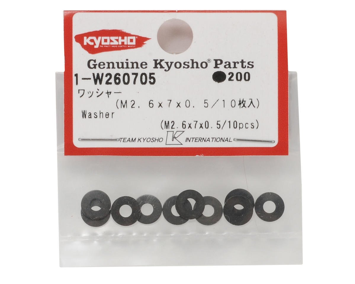 Kyosho M2.6x7x0.5mm Washer (10)