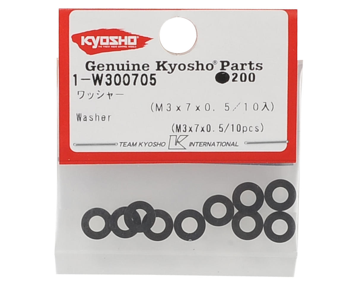 Kyosho 3x7x0.5mm Washers (10)