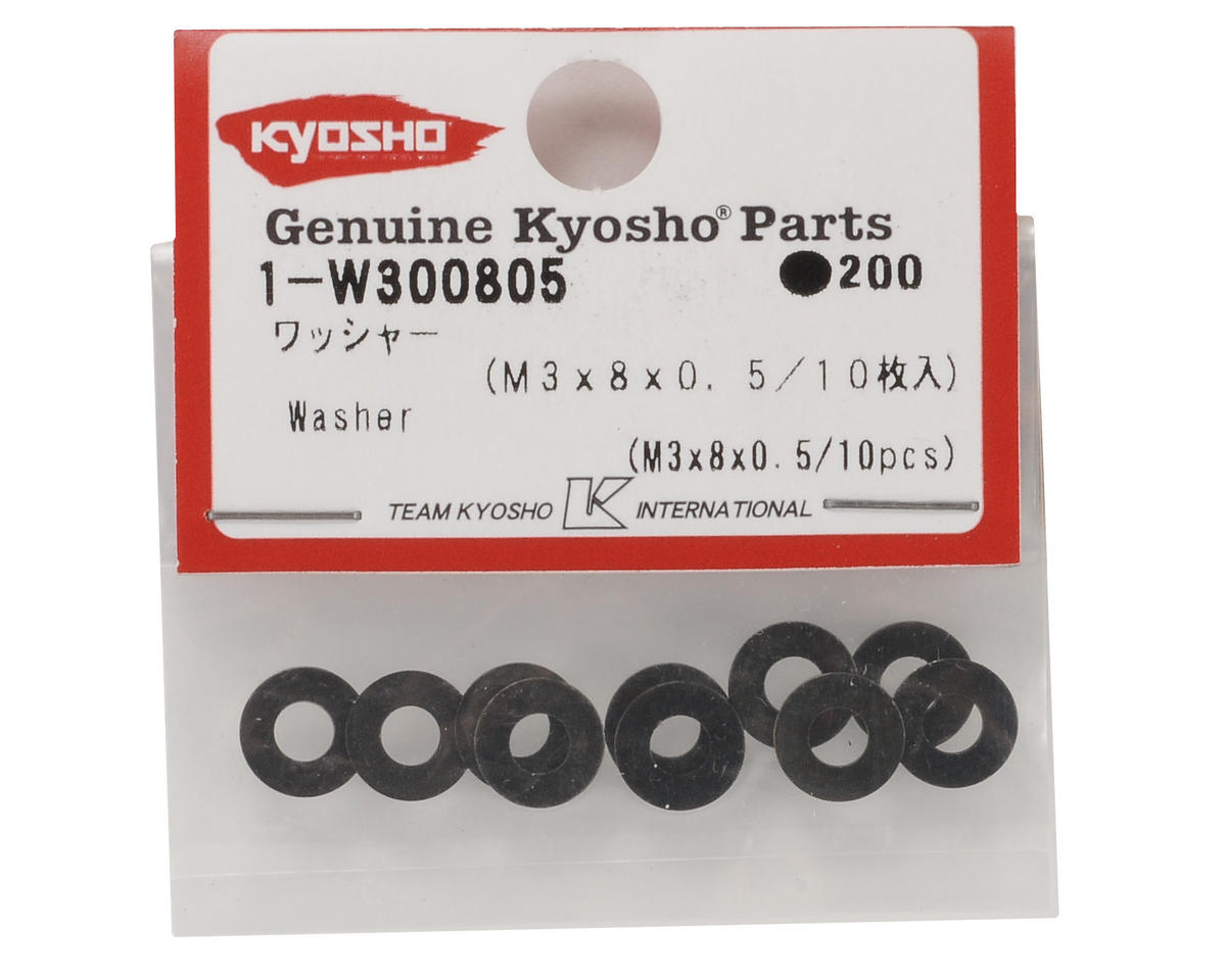 Kyosho 3x8x0.5mm Washer (10)