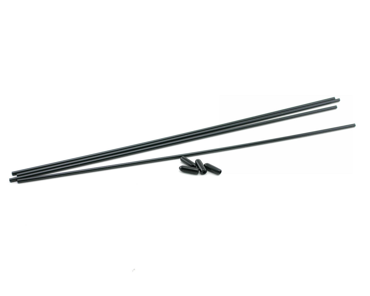 Kyosho Black Antenna Tubes & Antenna Caps (4)