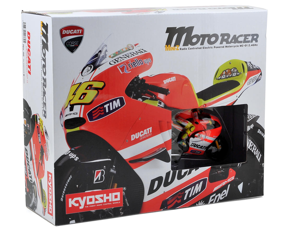 Kyosho Mini-Z Moto Racer Ducati Desmosedici ReadySet Motorcycle w/KT-19 2.4GHz T