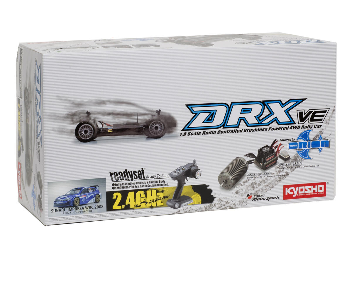 Kyosho DRX VE Subaru Impreza 1/9 ReadySet Electric Rally Car w/KT-200 2.4GHz Tra