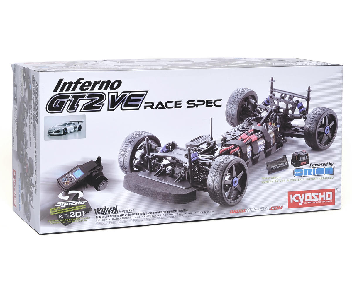 Kyosho Inferno GT2 VE Race Spec Audi R8 LMS ReadySet 1/8 Electric On-Road Kit