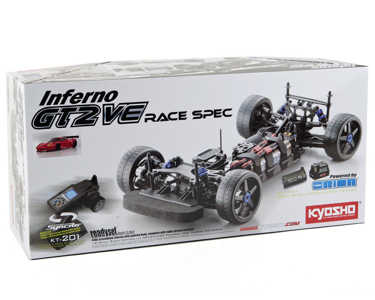 Kyosho Inferno GT2 VE Race Spec Ferrari 458 Italia 1/8 Electric On-Road Kit