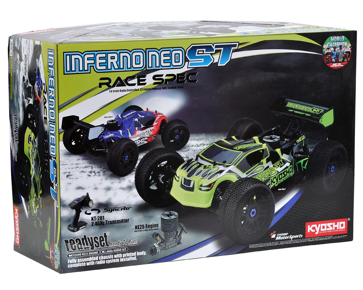 Image 2 for Kyosho Inferno NEO ST Race Spec ReadySet 1/8 Scale Truck w/KT-201 2.4GHz & KE25