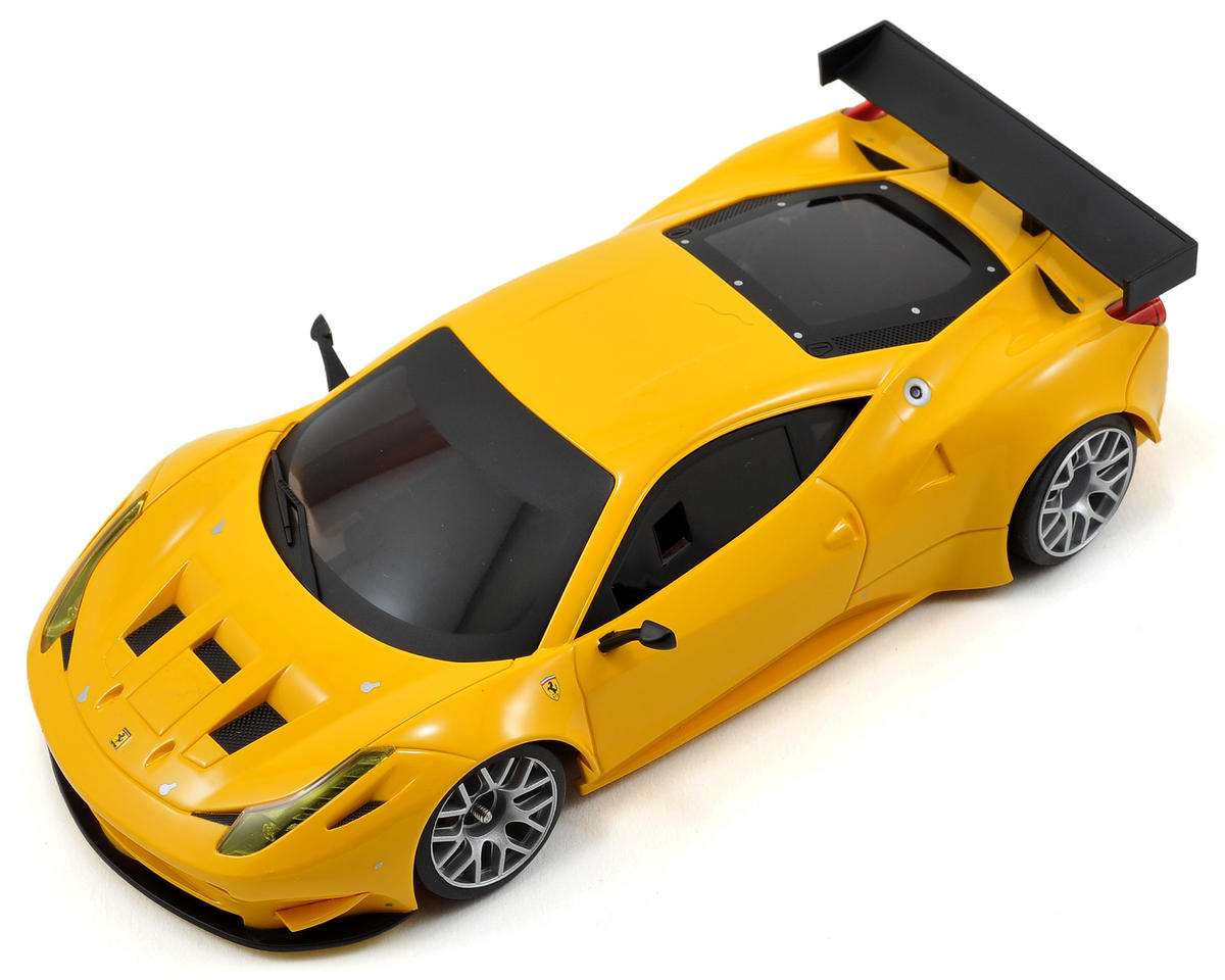 Kyosho MR-03W-MM ARR Mini-Z Chassis Set w/Ferrari 458 GT2 Body (Yellow)
