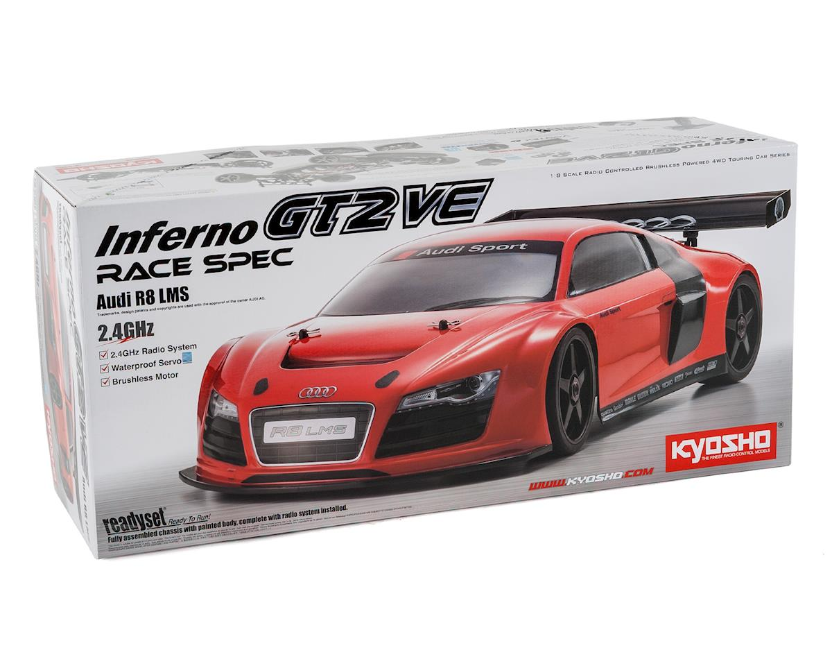 Kyosho Inferno GT2 VE Race Spec Audi R8 1/8 Electric On-Road Car Kit
