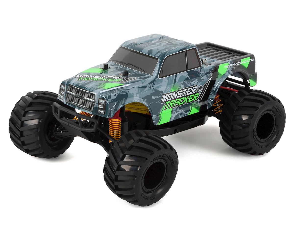 Monster Tracker T1 ReadySet 1/10 RTR 2WD Electric Truck (Grey/Green) by Kyosho