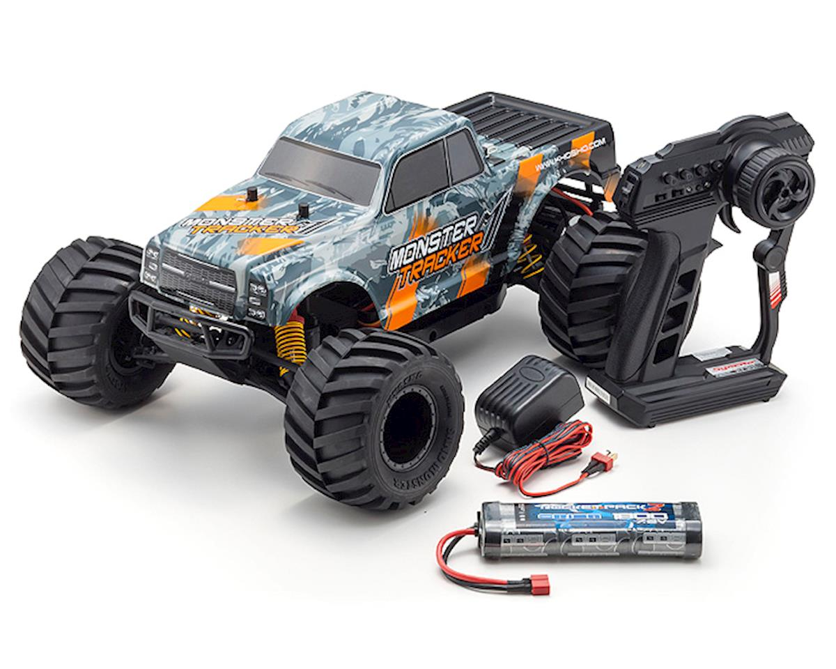 Kyosho Monster Tracker T2 ReadySet 1/10 RTR 2WD Monster Truck (Gray/Orange)