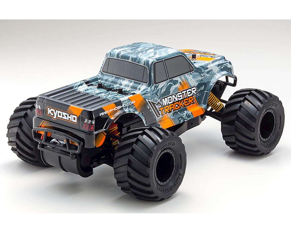 Image 3 for Kyosho Monster Tracker T2 ReadySet 1/10 RTR 2WD Monster Truck (Gray/Orange)