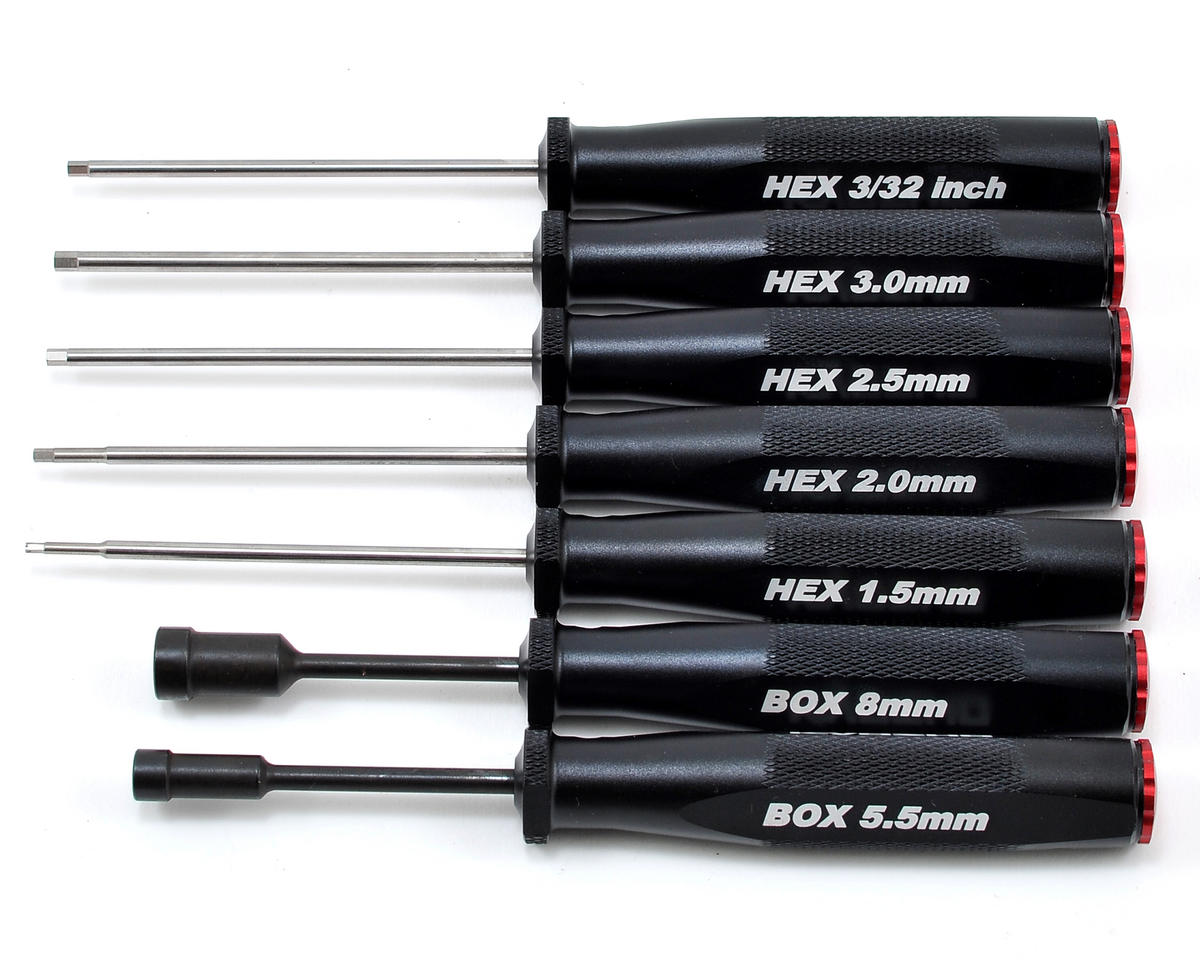Kyosho KRF Hex Wrench & Box Driver Set (7)