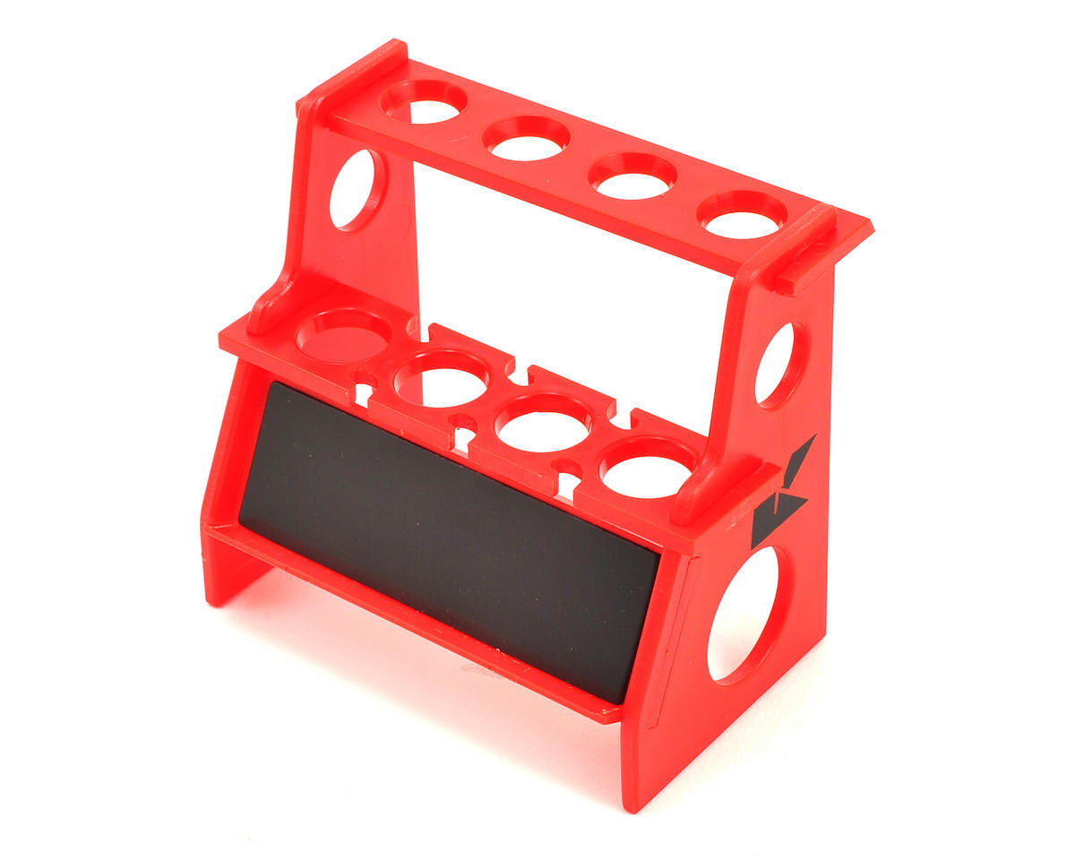 Shock Absorber Holder w/Magnetic Strip (Red) by Kyosho