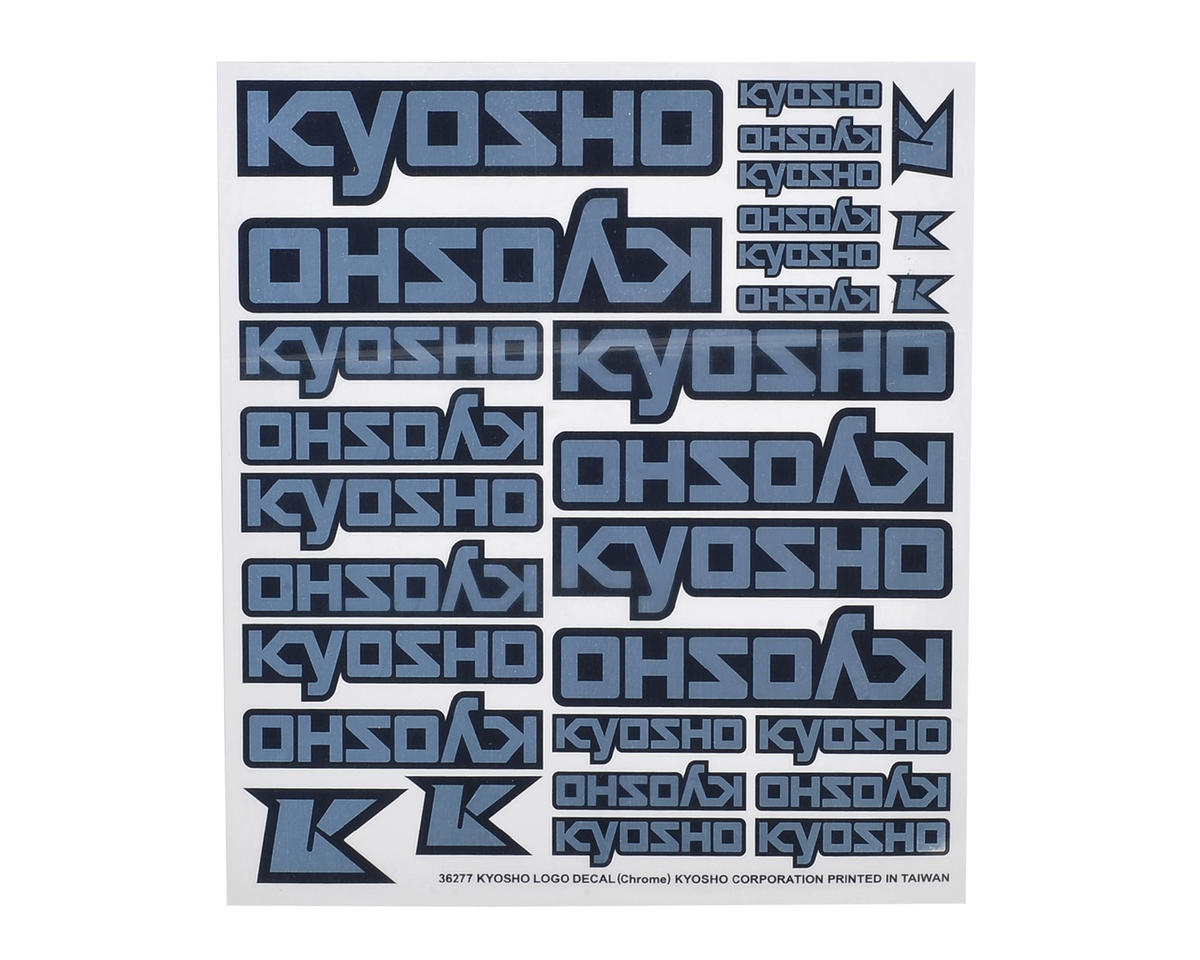 Kyosho Ultima DB Logo Decal (Chrome)