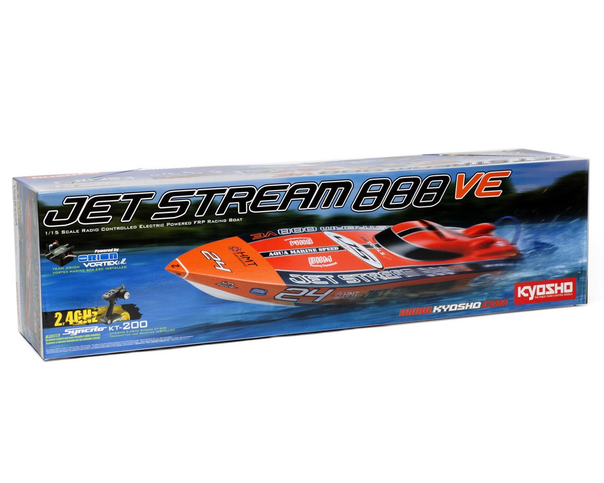 Kyosho EP Jetstream 888 VE ReadySet Brushless Boat w/Orion ESC & KT-200 2.4GHz Transmitter