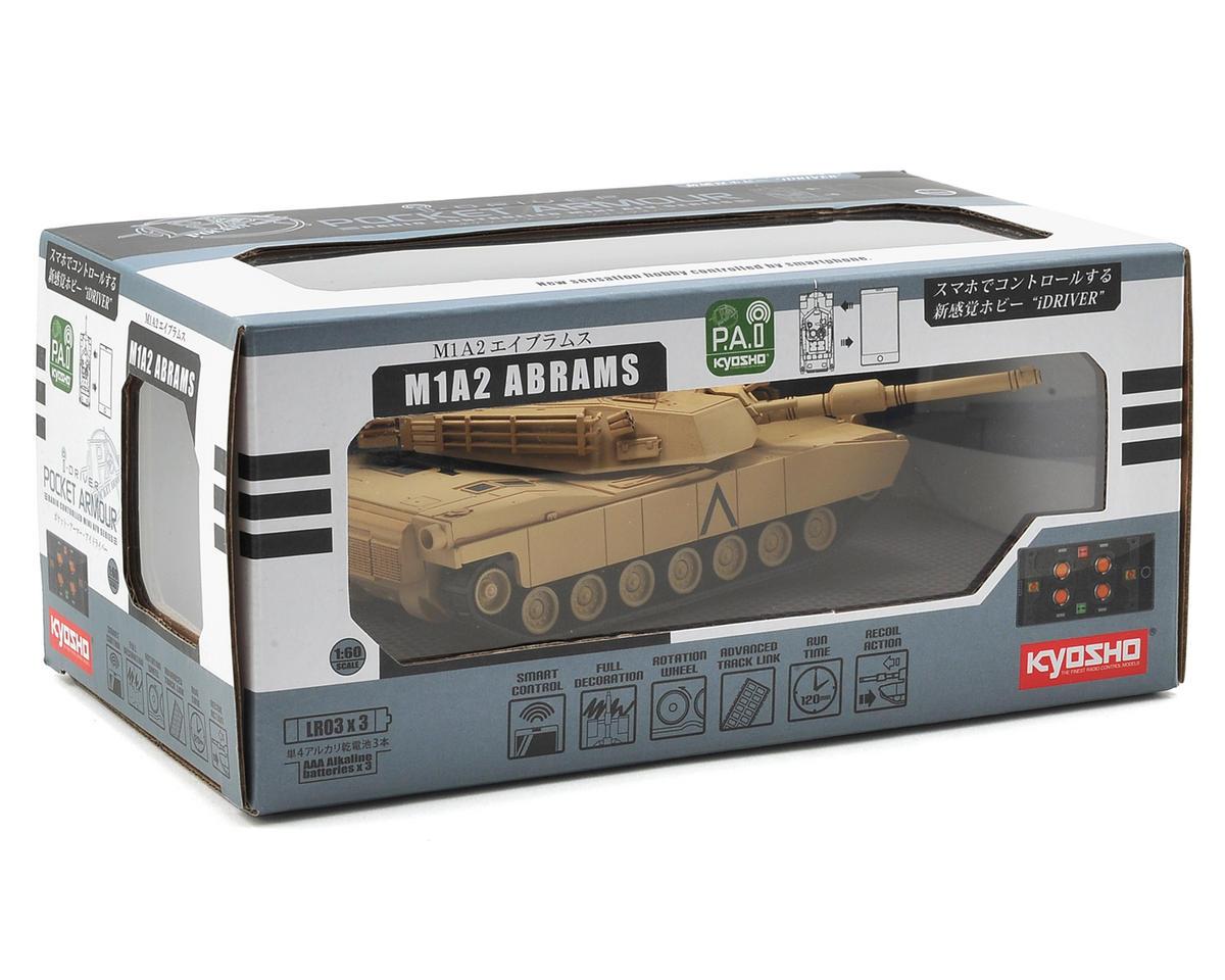 Kyosho M1A2 Abrams Pocket Armour 1/60 Scale Tank