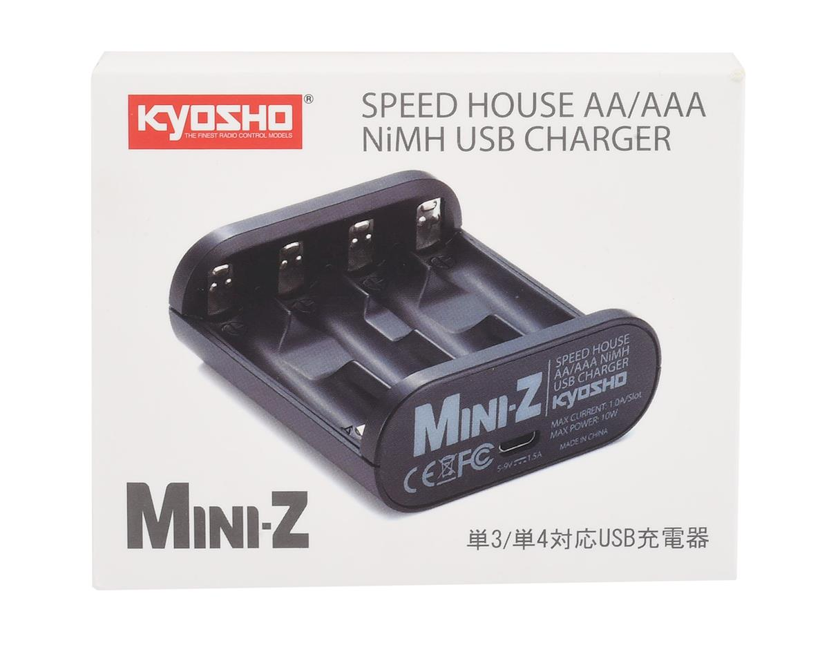 Kyosho MR-03 Speed House Mini-Z AA & AAA NiMh USB Charger